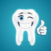 Happy protected human teeth — Vector de stock