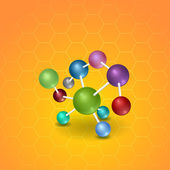 Molecola — Vettoriale Stock