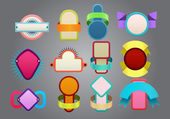 Colorful badges  — Stock Vector