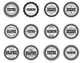 Set award icon for design studios — Stock Vector