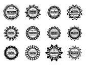 Set award icon for graphic, vector and design studios — Stock Vector