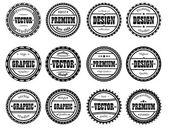 Set award stamp for design studios — Stock Vector