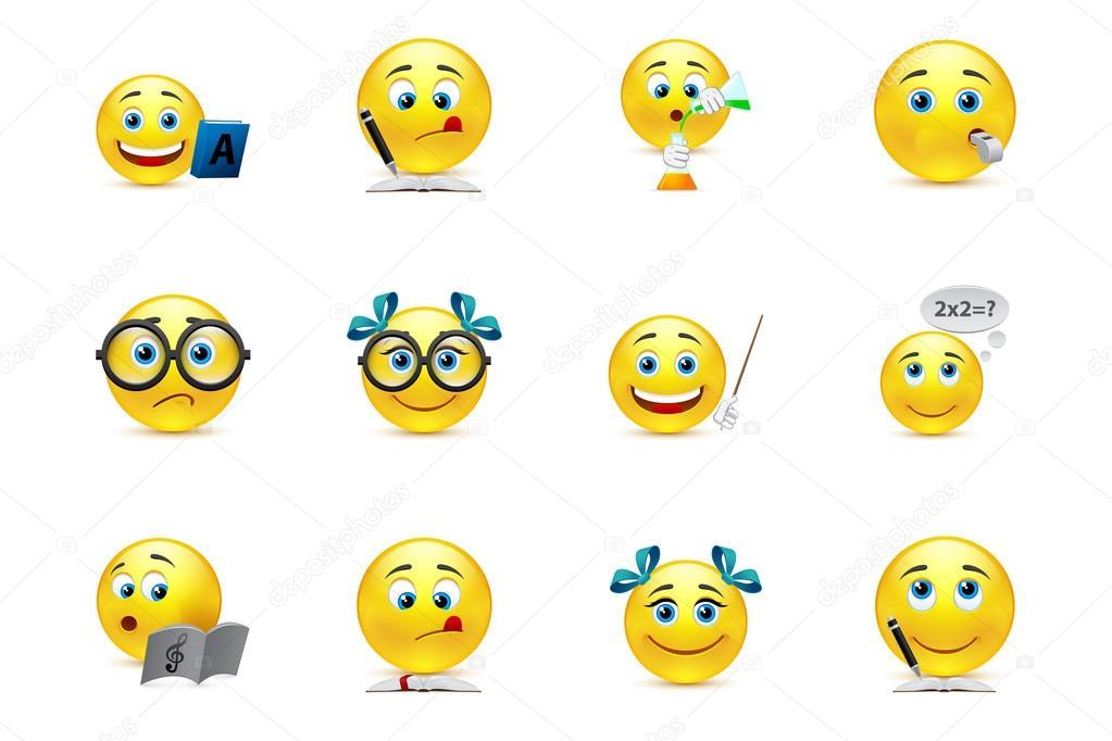 Lustige Smiley-Sammlung zum Thema: Lehren und lernen in s ...