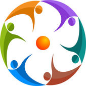 Volkeren logo — Stockvector
