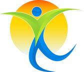 Active man logo — Stock Vector