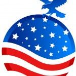 American bald eagle — Stock Vector