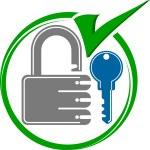 Key lock — Stock Vector