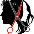 Vector de stock : Salon concept logo