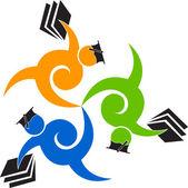 Education logo — Vector de stock