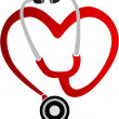 Heart stethoscope logo — Stock Vector