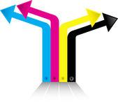 Renk ok logosu — Stok Vektör