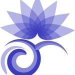 Lotus logosunu — Stok Vektör
