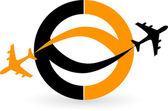 Plane logo — Stock Vector
