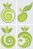 Fruits logo — Stock Vector