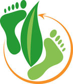 Foot leaf logo — Vecteur