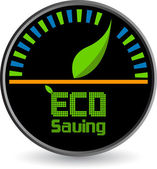 Eco saving logo — Stock Vector