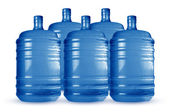 Cooling water cans — Stock Photo