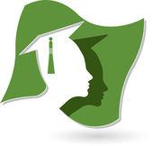 Graduation logo — Stock Vector