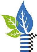 Style leaf logo — Stock Vector