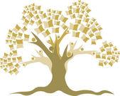 Education tree logo — Stock Vector