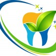 Dental herbal logo - Imagen vectorial