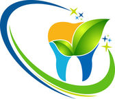 Dental herbal logo — Stock Vector