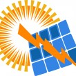 Vector de stock : Solar power logo