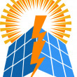 Solar power logo — Stockvektor #25395963