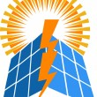 Solar power logo — Stockvector #25395963