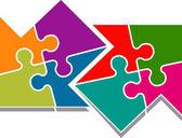 Puzzle arrow — Stock Vector