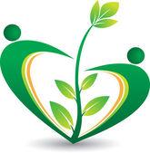 Couple tree logo — Stock Vector