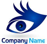 Hand eye logo — Stock Vector