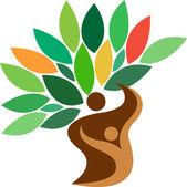 Family tree logo — Stock Vector