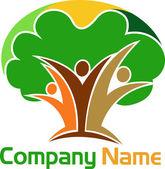 Lidský strom logo — Stock vektor