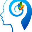 Mind flower logo — Stockvectorbeeld