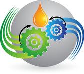 Gear oil logo — Stock Vector