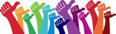 Volunteer hands — Stock Vector