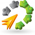 Human gears logo — Stock Vector #35798565