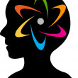 Brain power logo — Image vectorielle