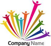 Teamwork logos — Stock Vector