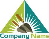 Trowel logo — Stock Vector