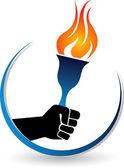 Hand Olympic logo — Stock Vector