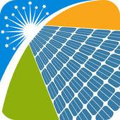 Solar panel logo — Vettoriale Stock