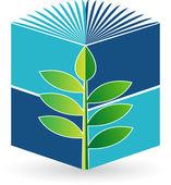 Biyoloji kitabı logosu — Stok Vektör