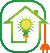 Power home logo — Stock Vector
