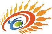 Active sun logo — Stock Vector