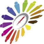 Human speed life logo — Stock Vector
