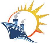Power ship logo — Stock Vector