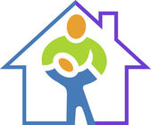 Home health care logo — Stock Vector