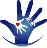 Hand-Love-logo — Stockvektor
